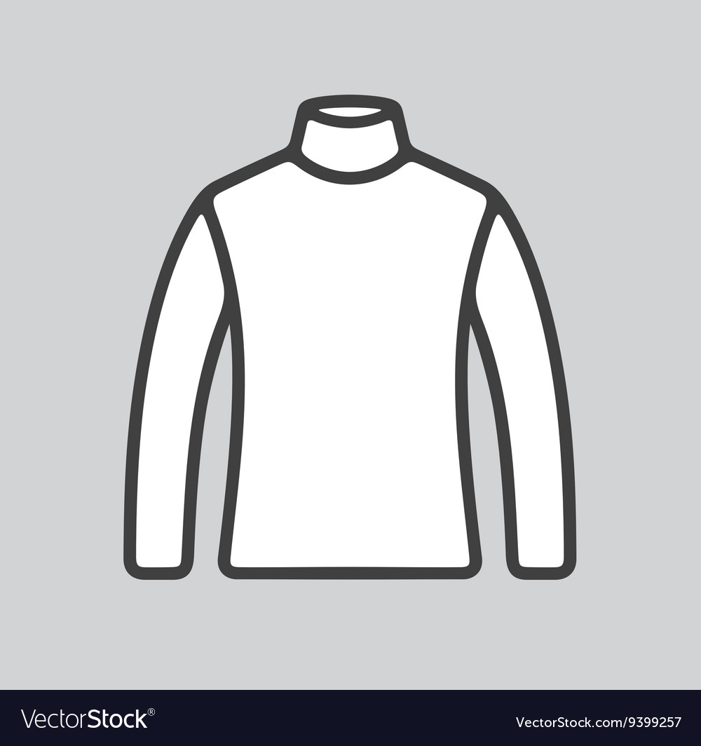 Turtleneck icon on background vector image