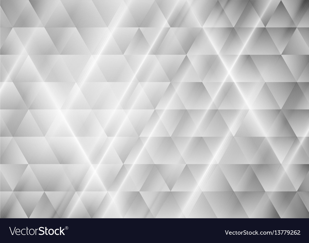 Abstract tech grey triangles geometric background vector image