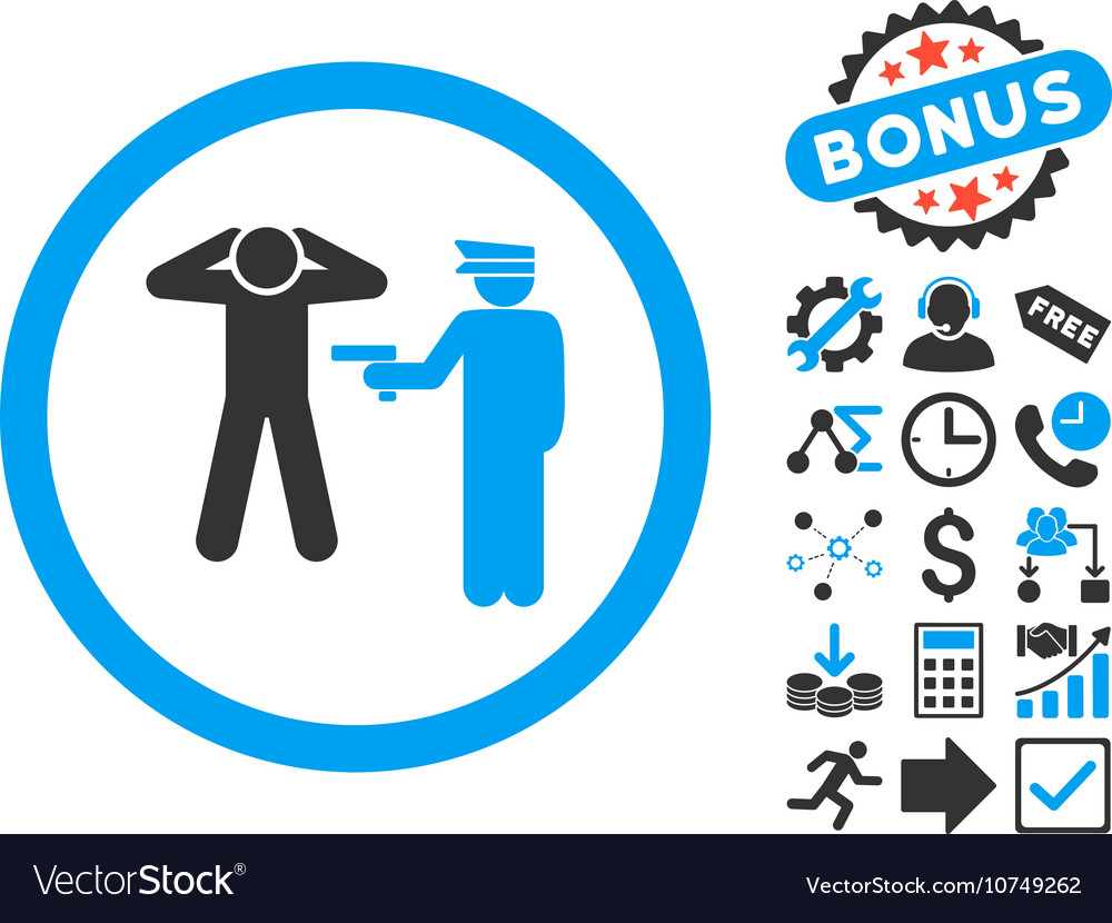 Arrest Flat Icon with Bonus
