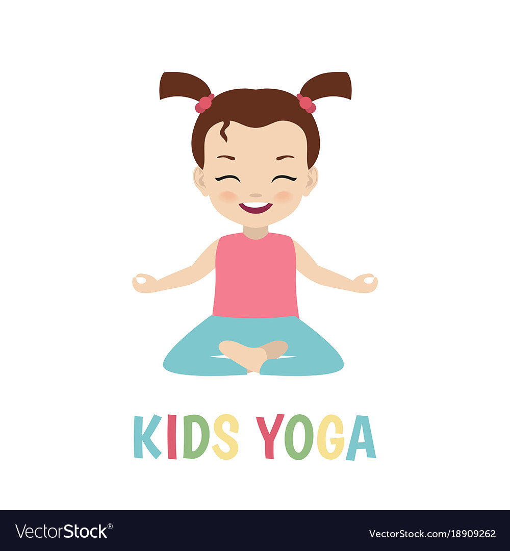 Children Yoga Logo Children Yoga Logo Royalty Free Vector