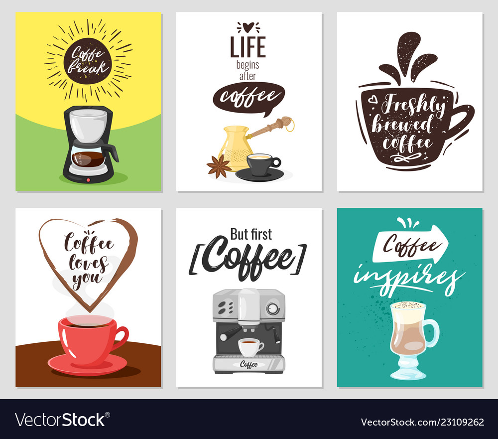 Coffee poster template for restaurant