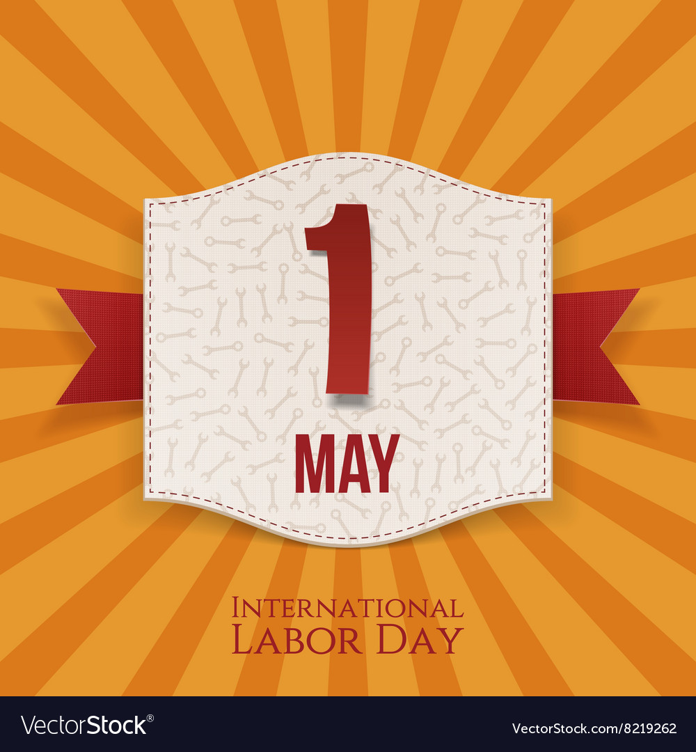International Labor Day realistic Holiday Banner