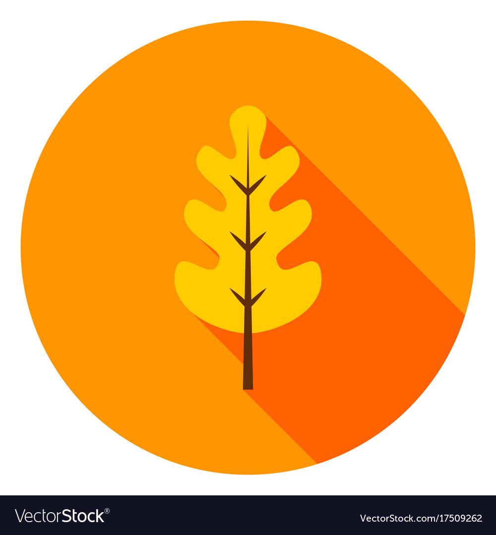 Oak leaf circle icon