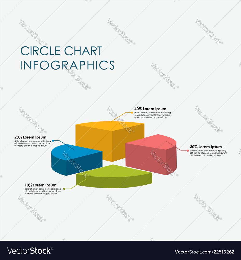Pie chart circle chart infographics elements 3d