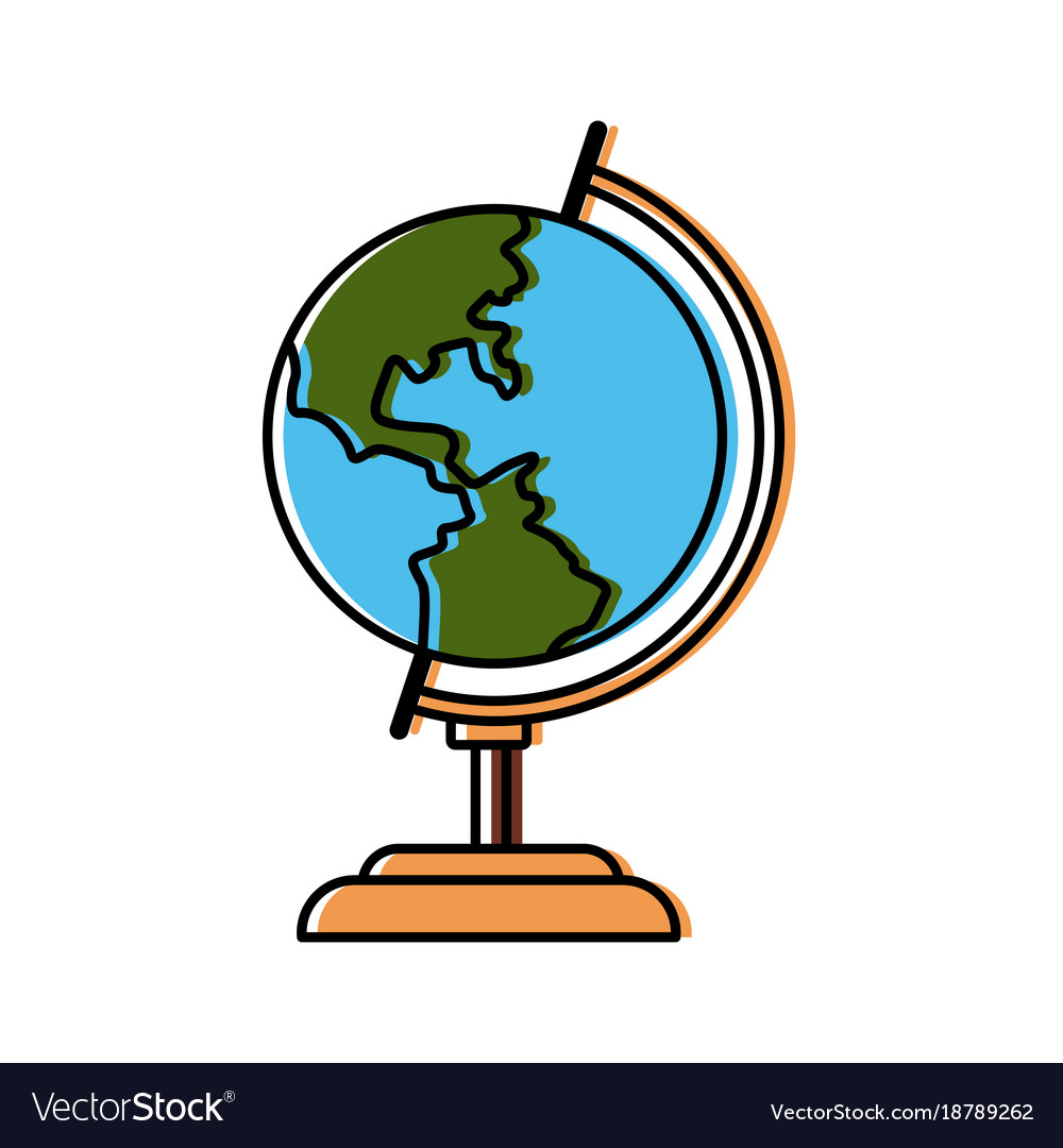 school world globe royalty free vector image vectorstock rh vectorstock com world globe vector cdr free download world globe vector image