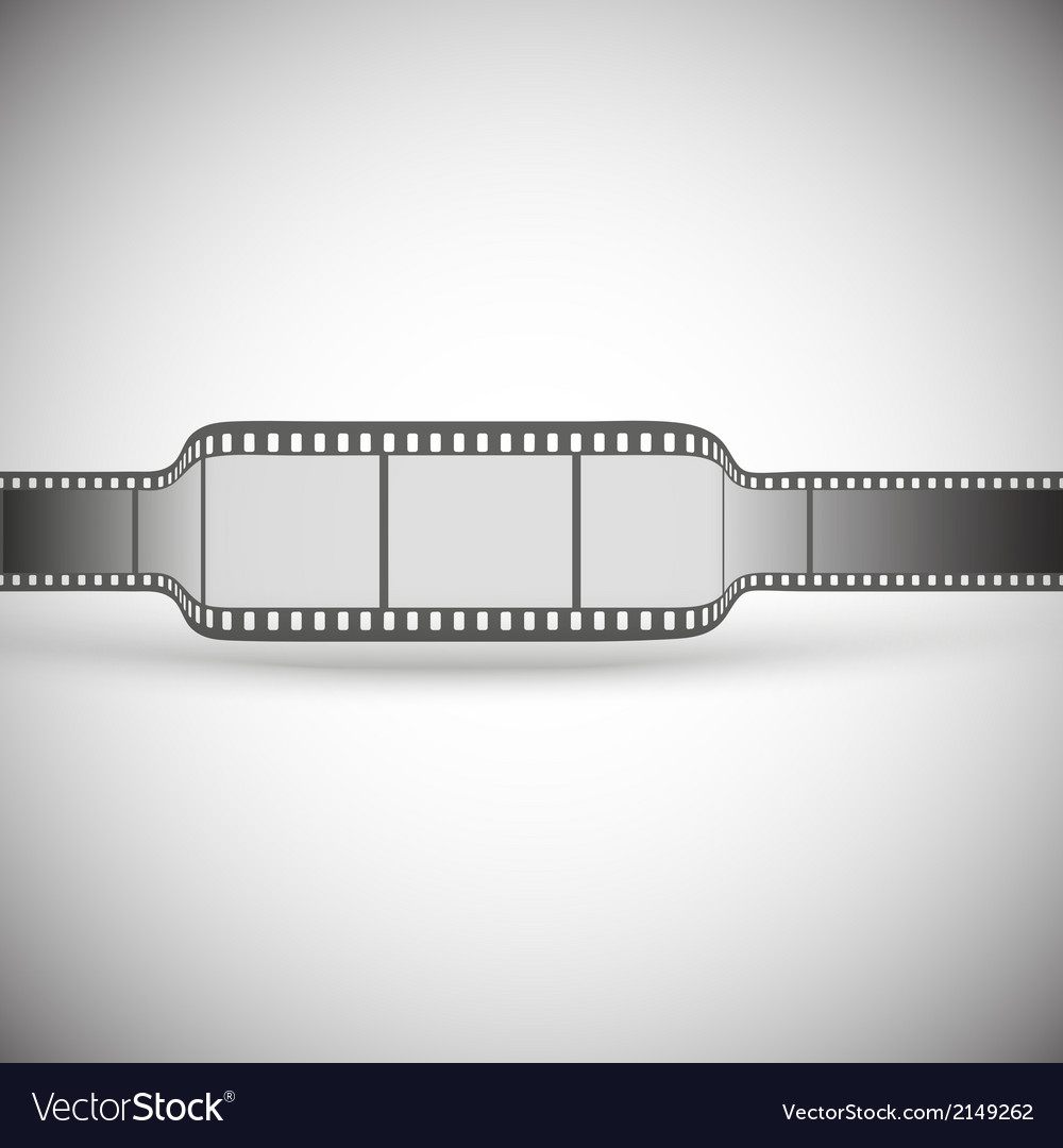 Transparent film strip on gray background