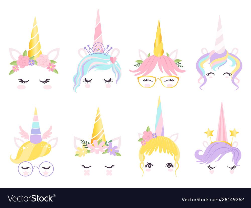 Unicorn face fantasy horse pony animal creation