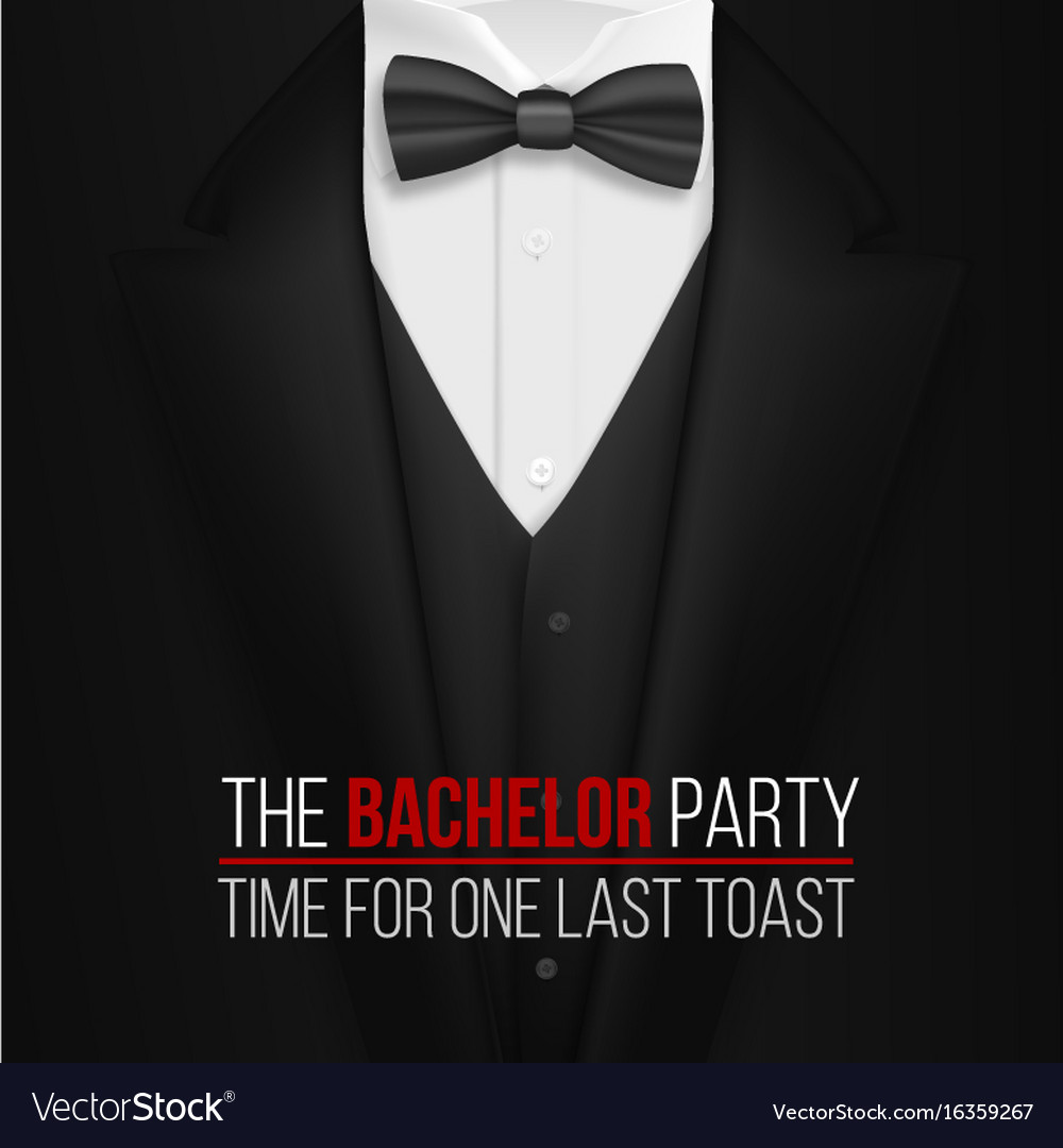 Bachelor party invitation template realistic Vector Image