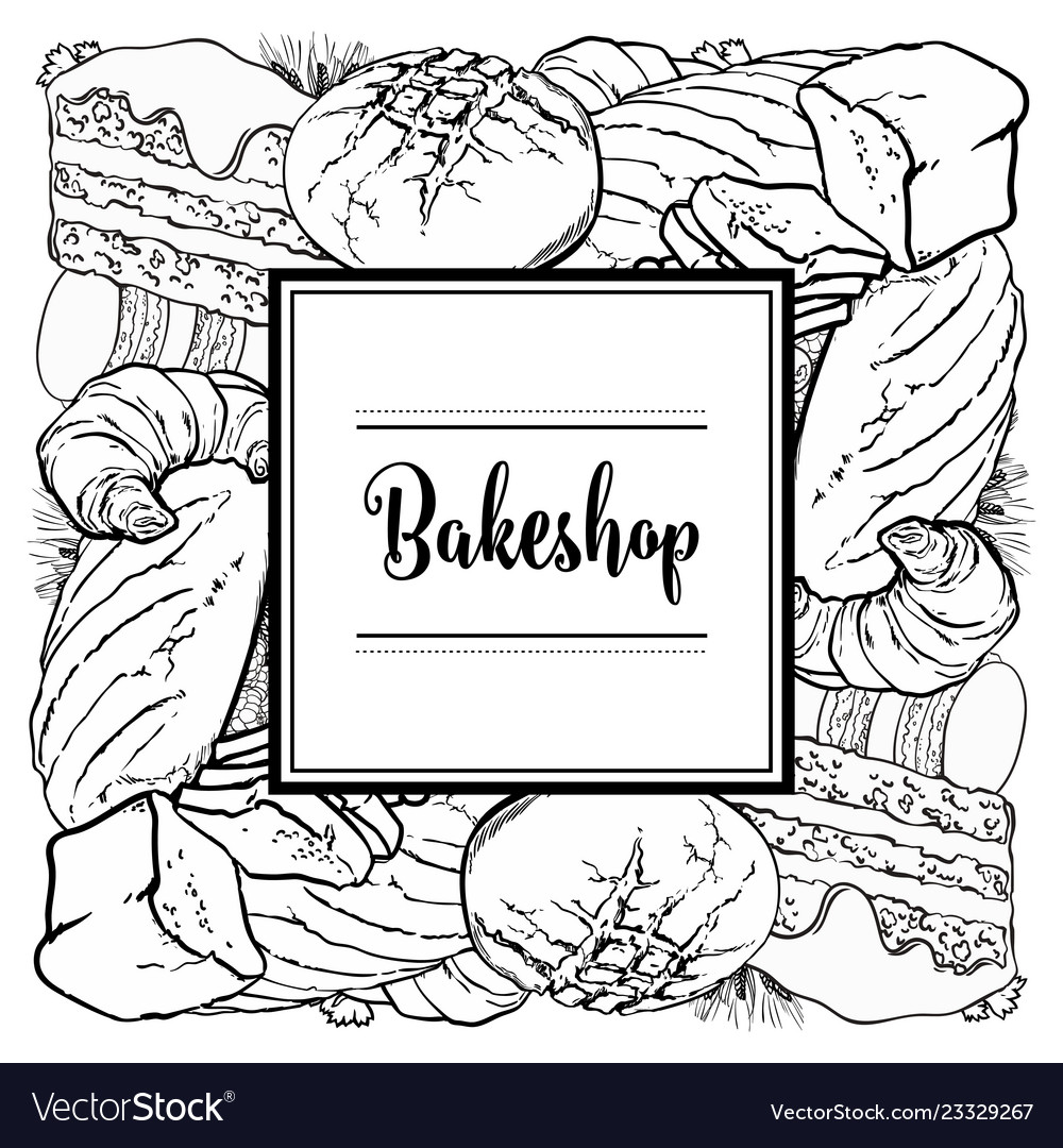 Bakeshop brand logo with loafs of bread