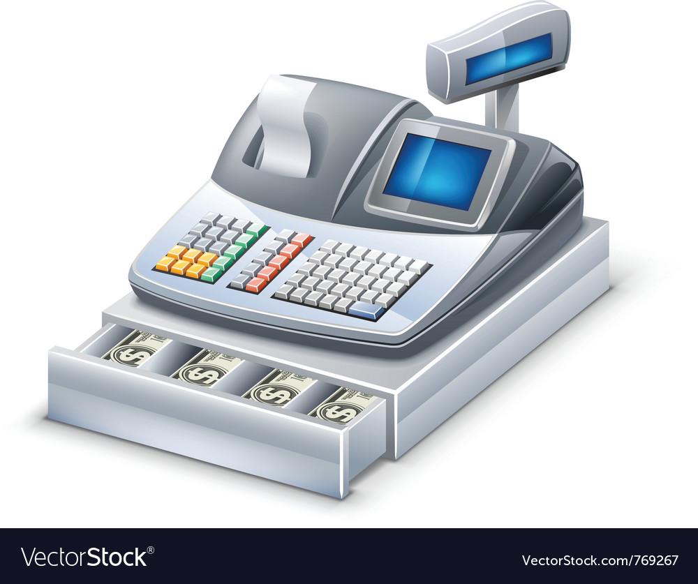 Cash register royalty free vector image vectorstock.