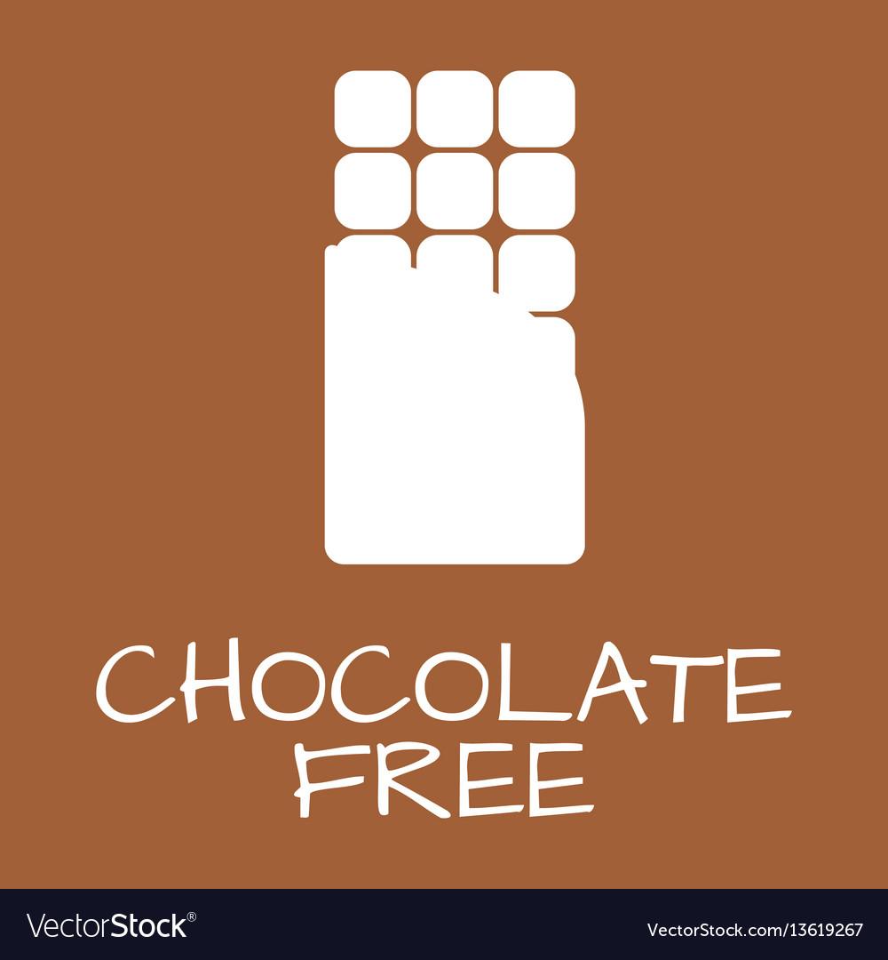 Chocolate free label food intolerance symbols