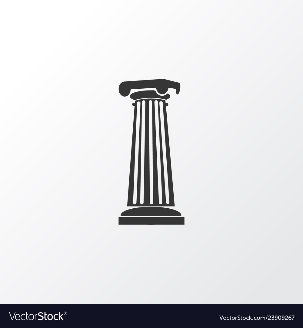 Column icon symbol premium quality isolated
