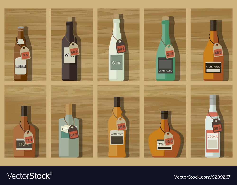 Icons of alcoholic beverages