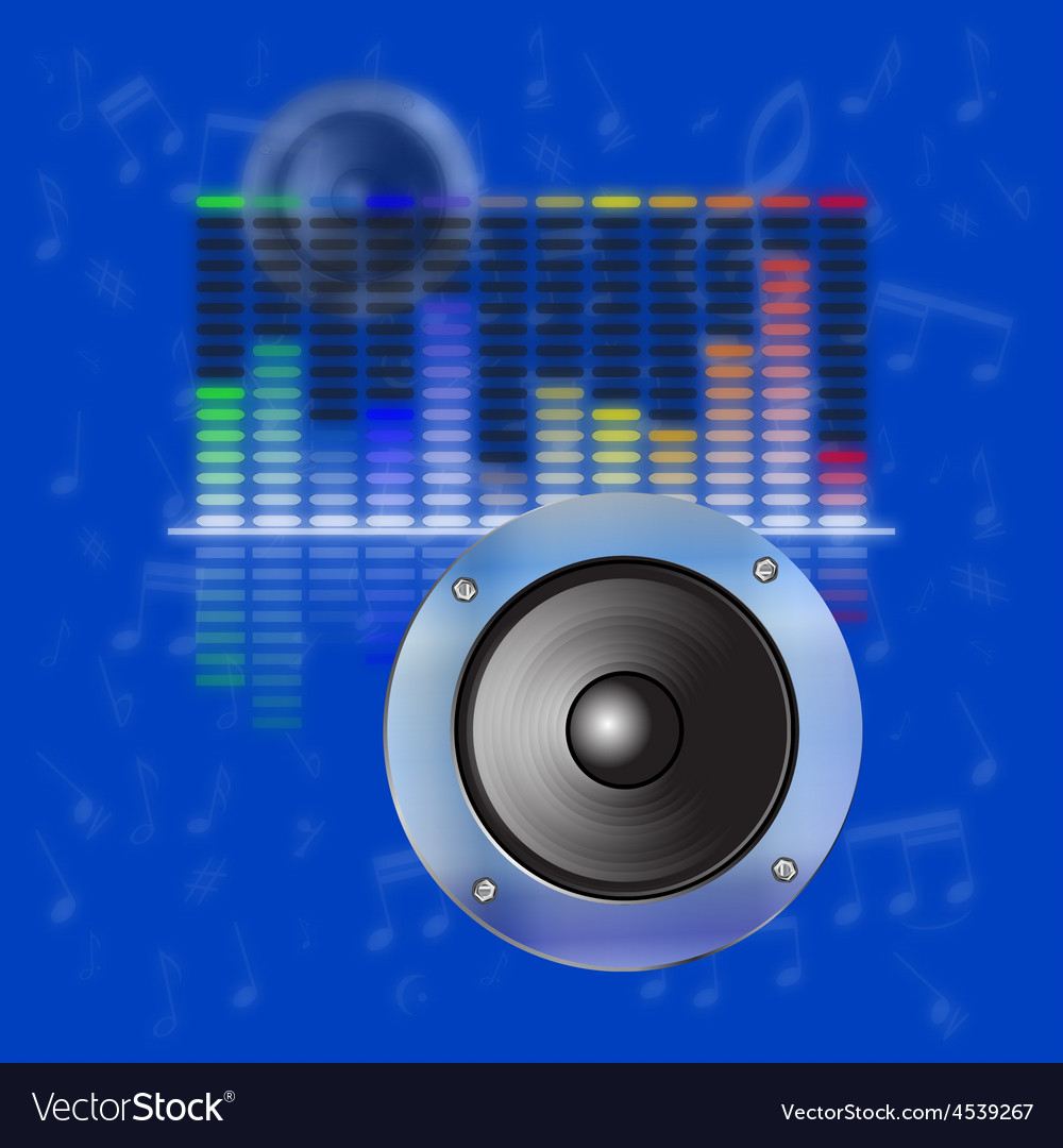Musical design sound waves an equalizer vector image