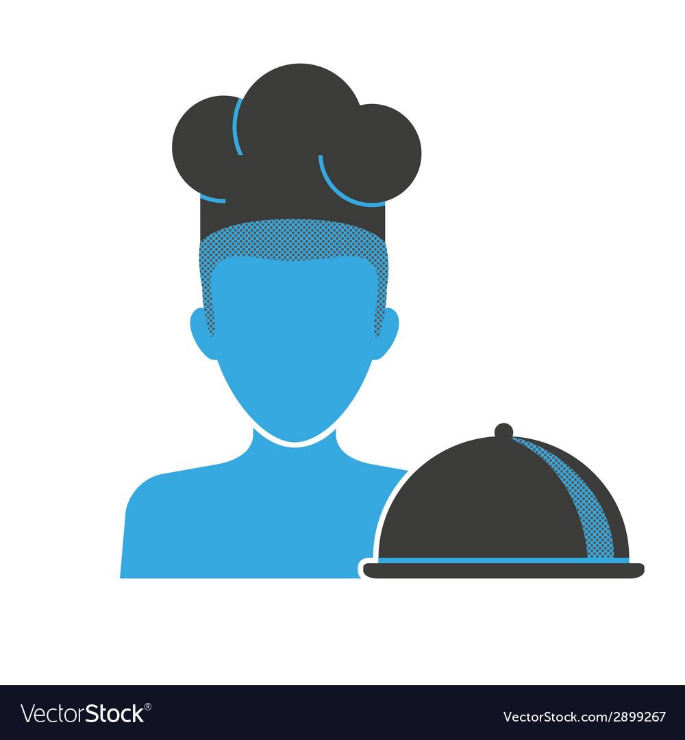 Restaurant chefs blue icon