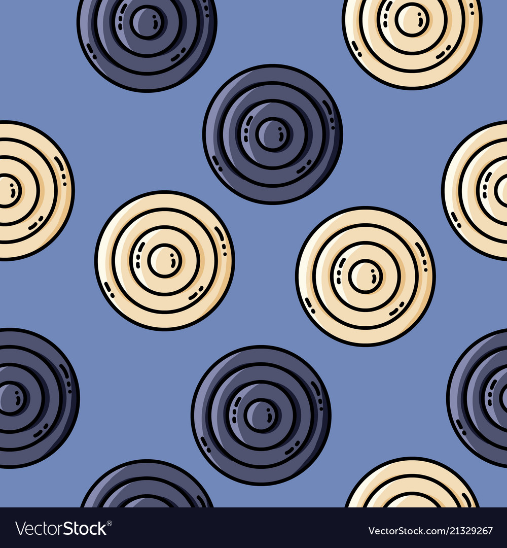 Seamles pattern with circles in retro colors