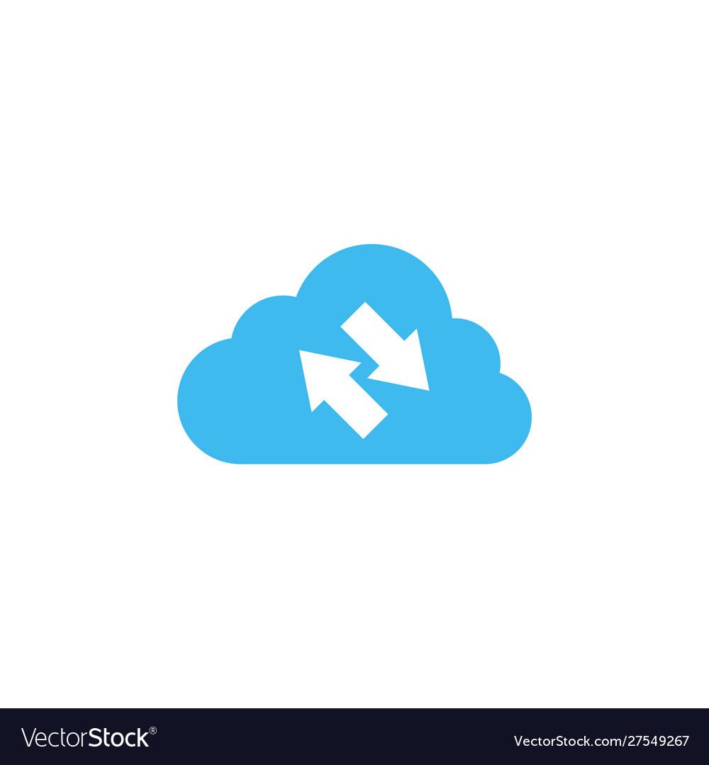 Synchronization cloud icon design template