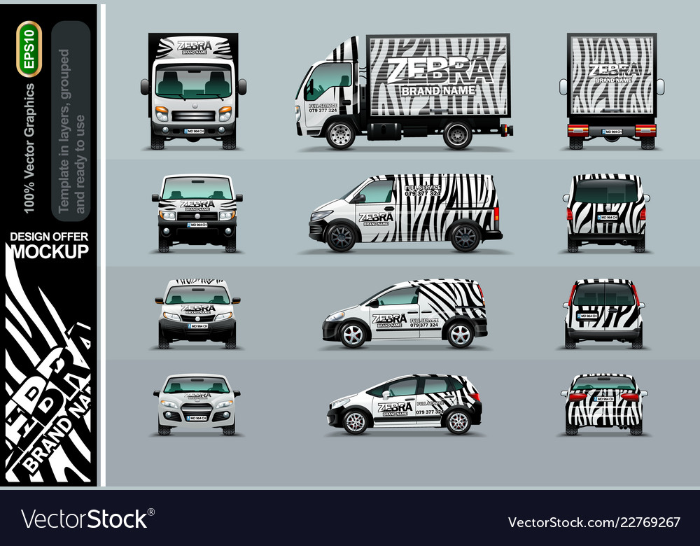 Zebra pattern layout offers for your business