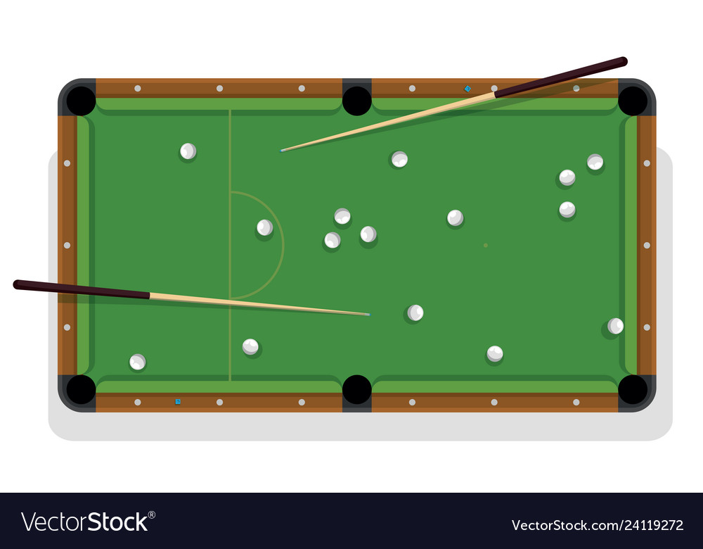 Billiard table cue and pool balls for game