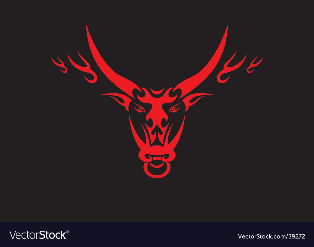 Chinese Ox Symbol Royalty Free Vector Image Vectorstock