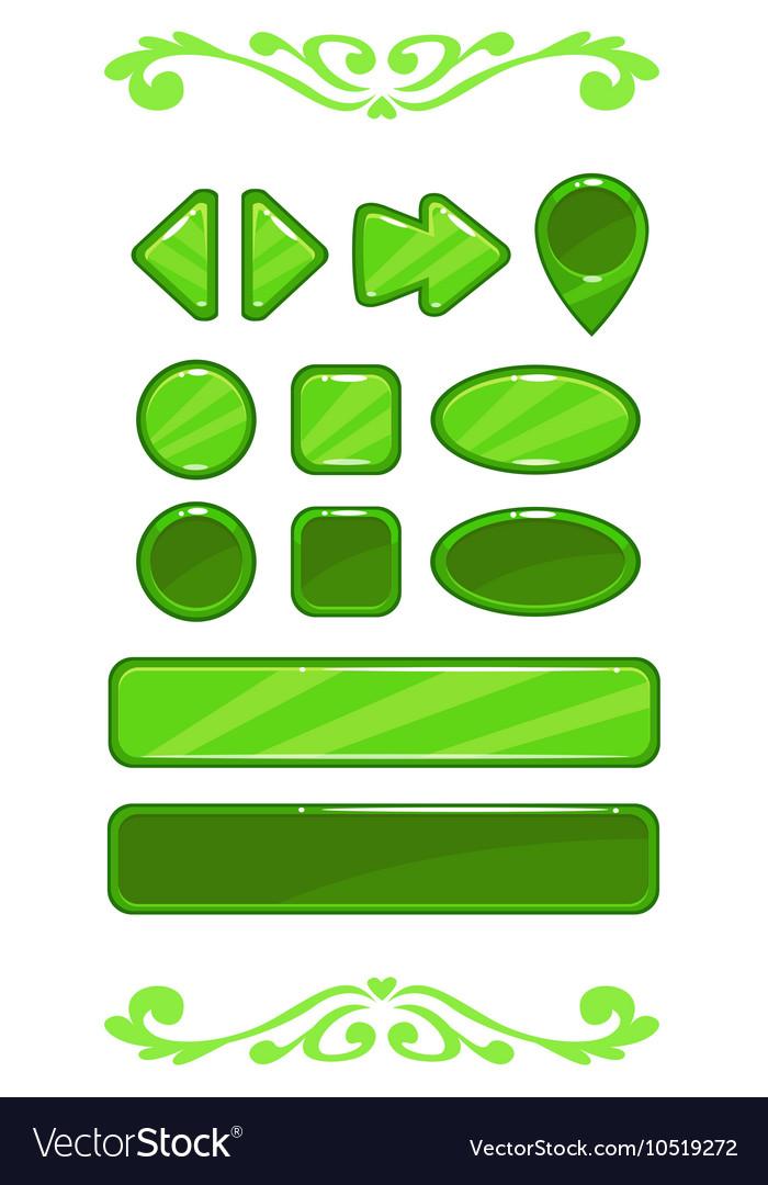 Cute green game user interface