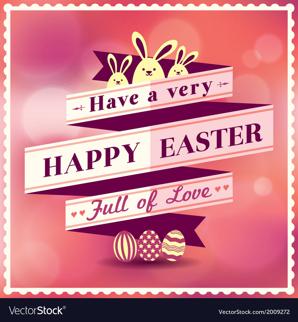 Easter card with ribbon design