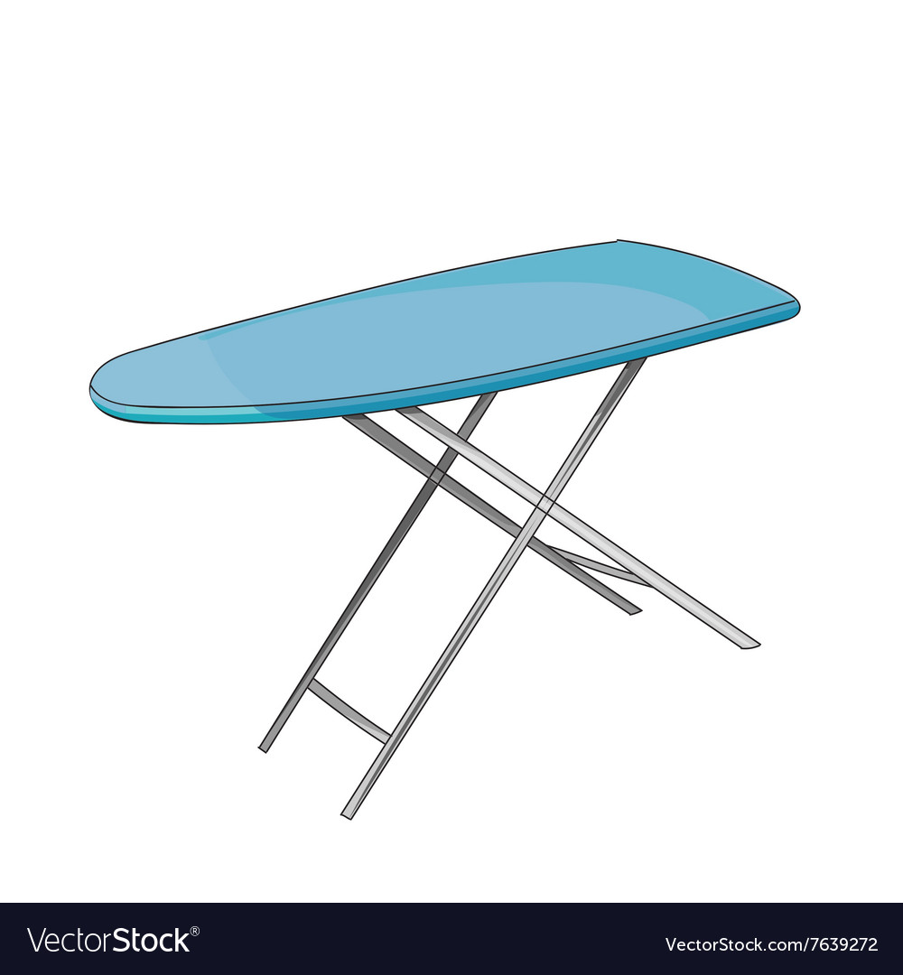 Empty ironing board vector image