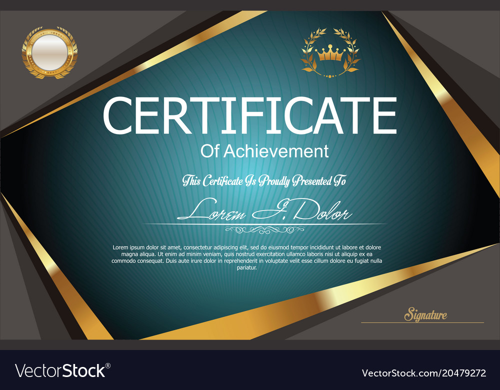 Modern certificate or diploma template 3 vector image