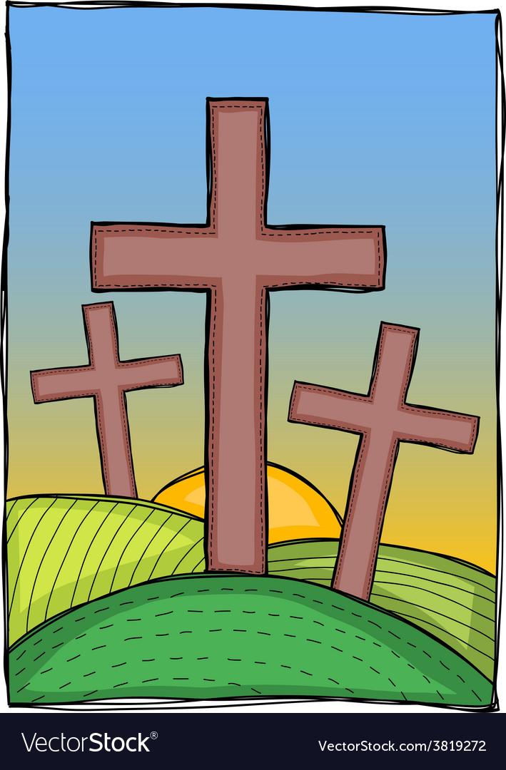 Religion - christian crosses vector image