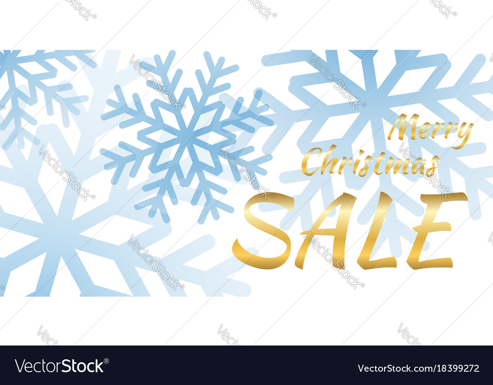 Snowflakes background snow design vector image