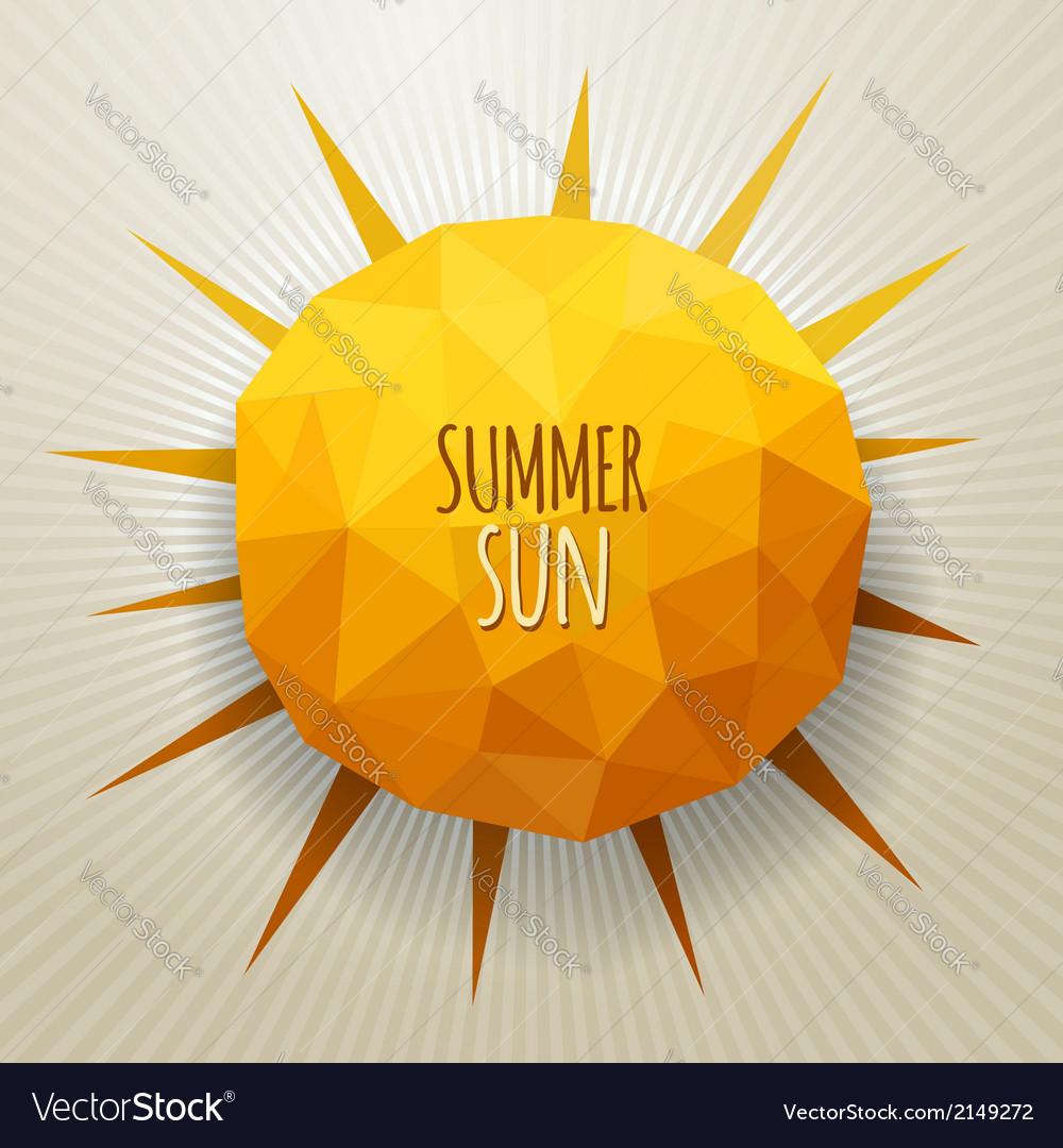 Triangle summer sun