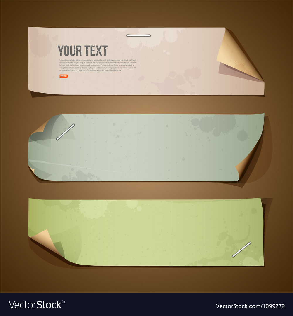 Vintage paper Long collections vector image