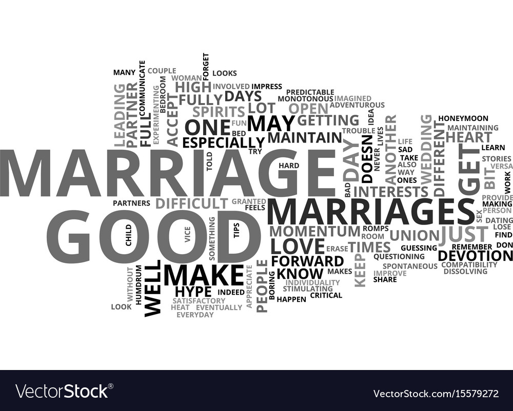 what makes a great marriage