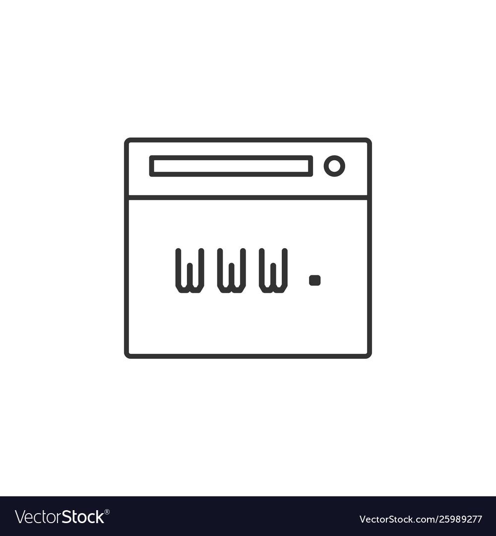 Browser internet web line icon simple modern flat