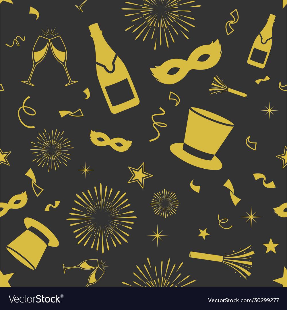 Seamless new year pattern