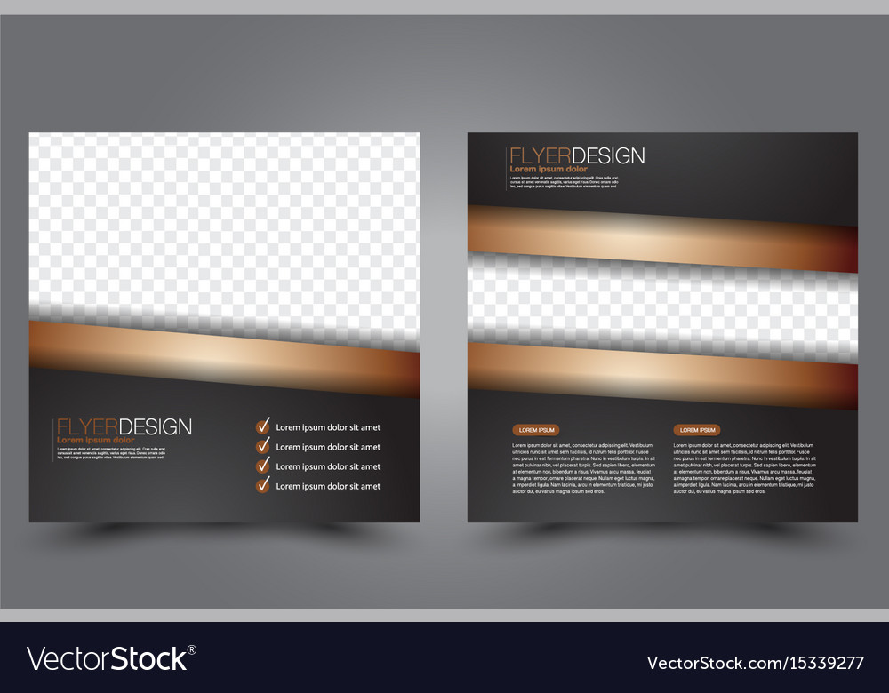 Square Flyer Template Brochure Design Royalty Free Vector