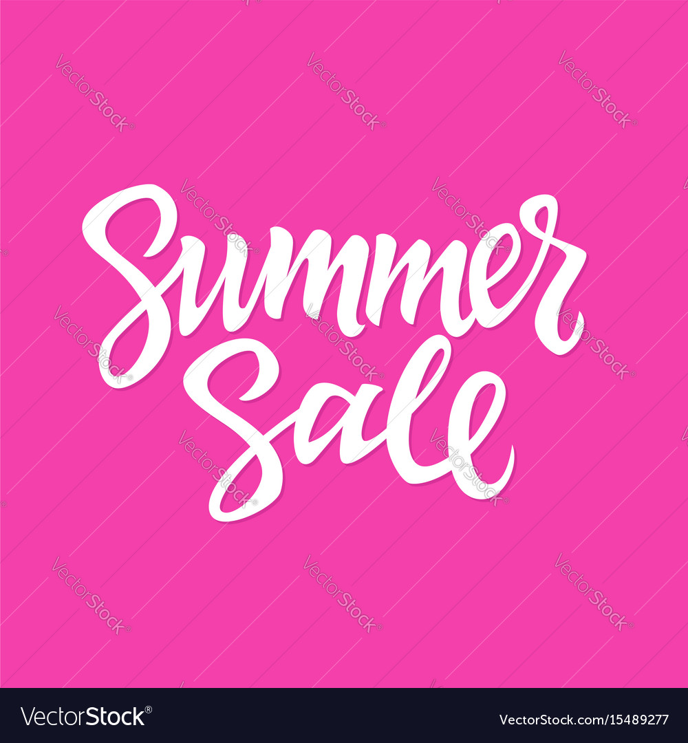 Summer sale - hand drawn brush lettering