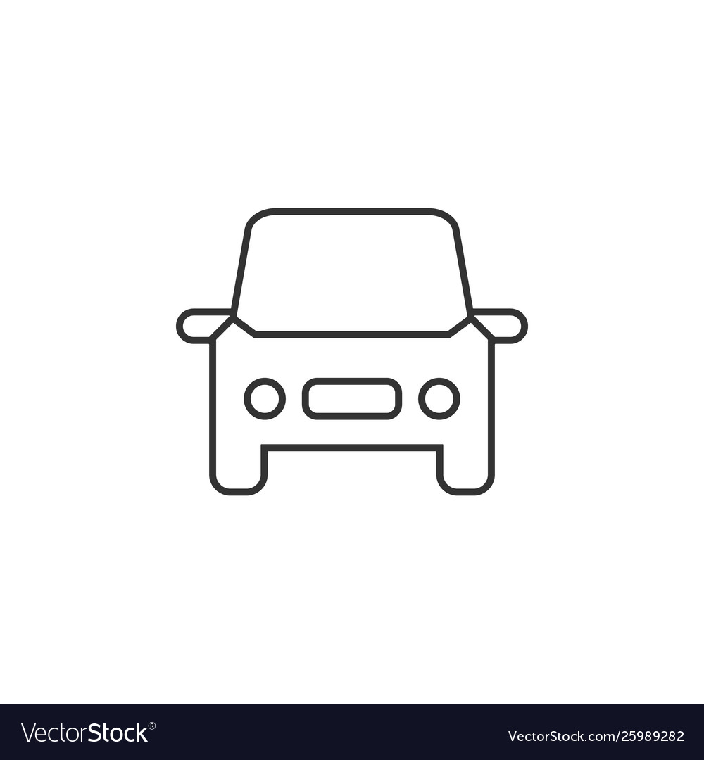 Car auto line icon simple modern flat for mobile