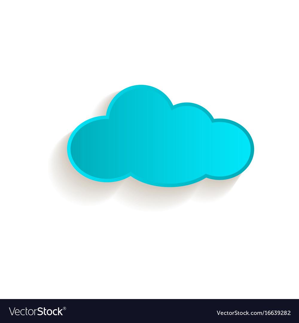 Cartoon cloud icon symbol isolated
