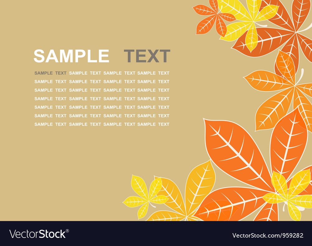 Colored autumn leaves background vector image