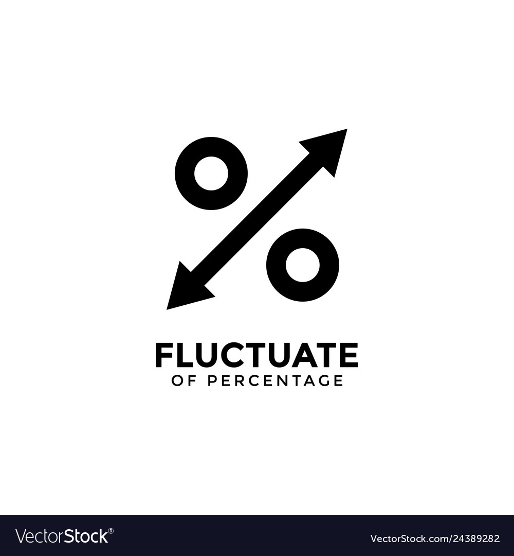 Fluctuate percentage graphic design template