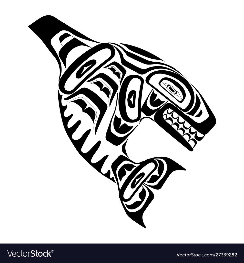 Haida killer whale tattoo