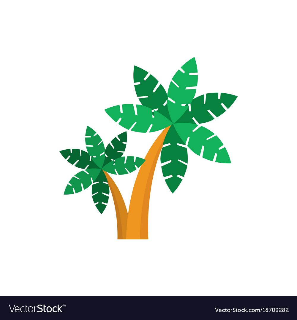 Simple coconut trees vector image