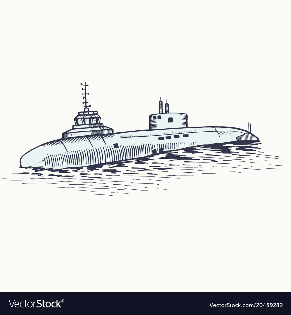 The nuclear submarine surfaced from the depths of
