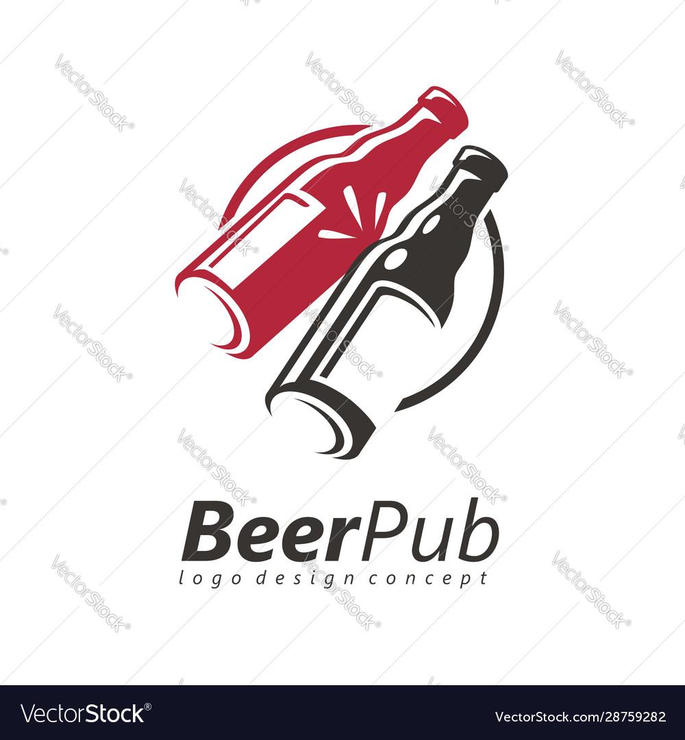 Toasting beer bottles logo design idea
