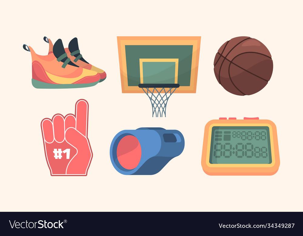 Basketball equipment set sports orange sneakers
