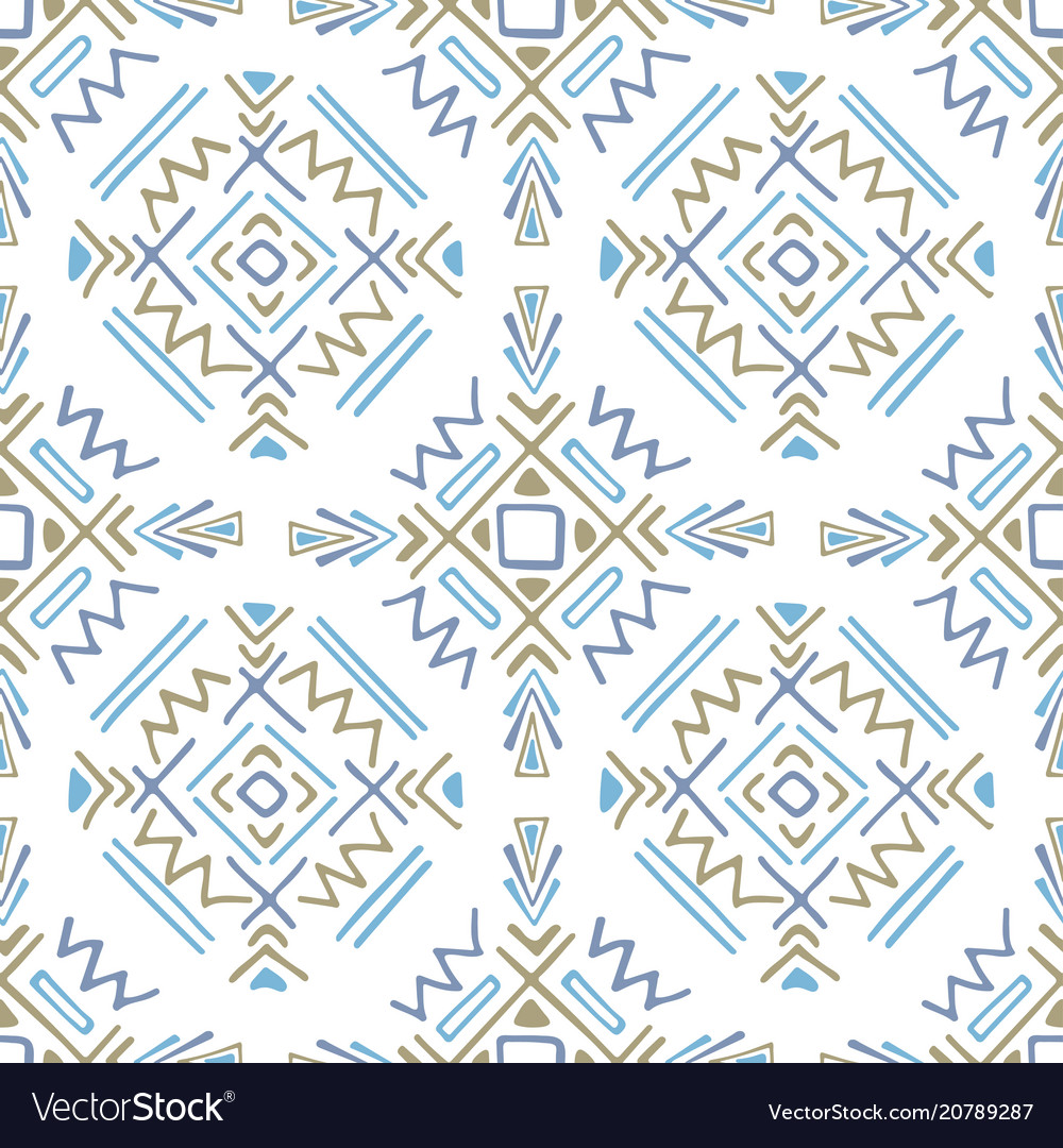 Boho ethnic ornament tribal art print seamless