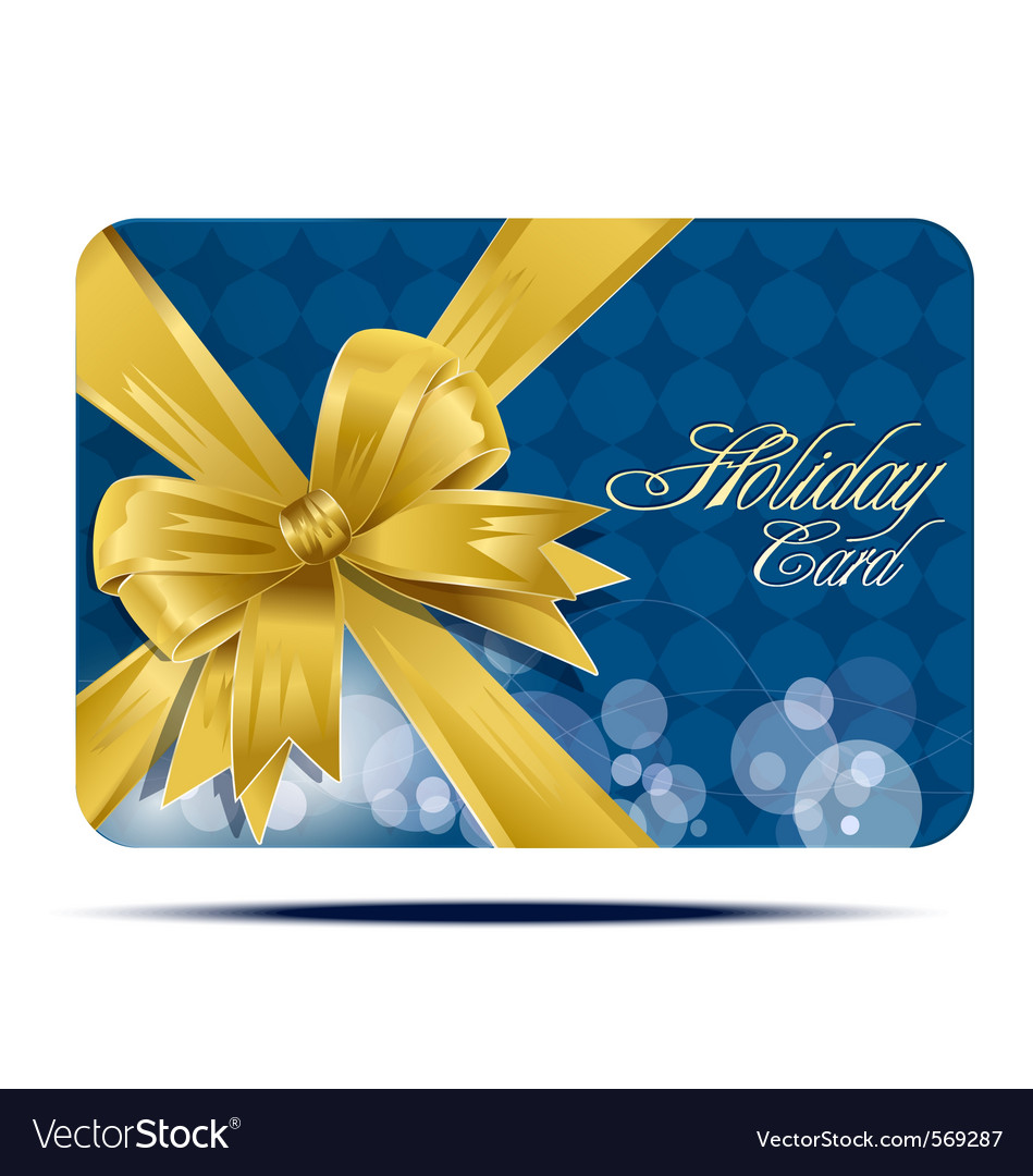Business card with bow vector image