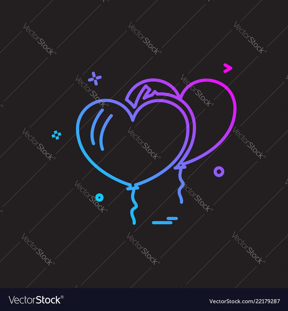 Christmas balloon icon design