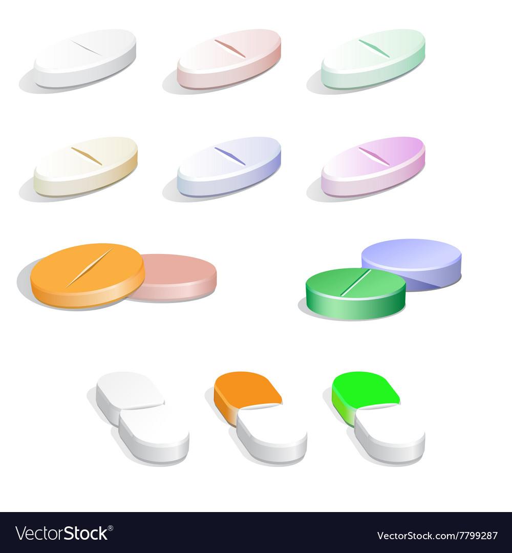 Colorfull pills